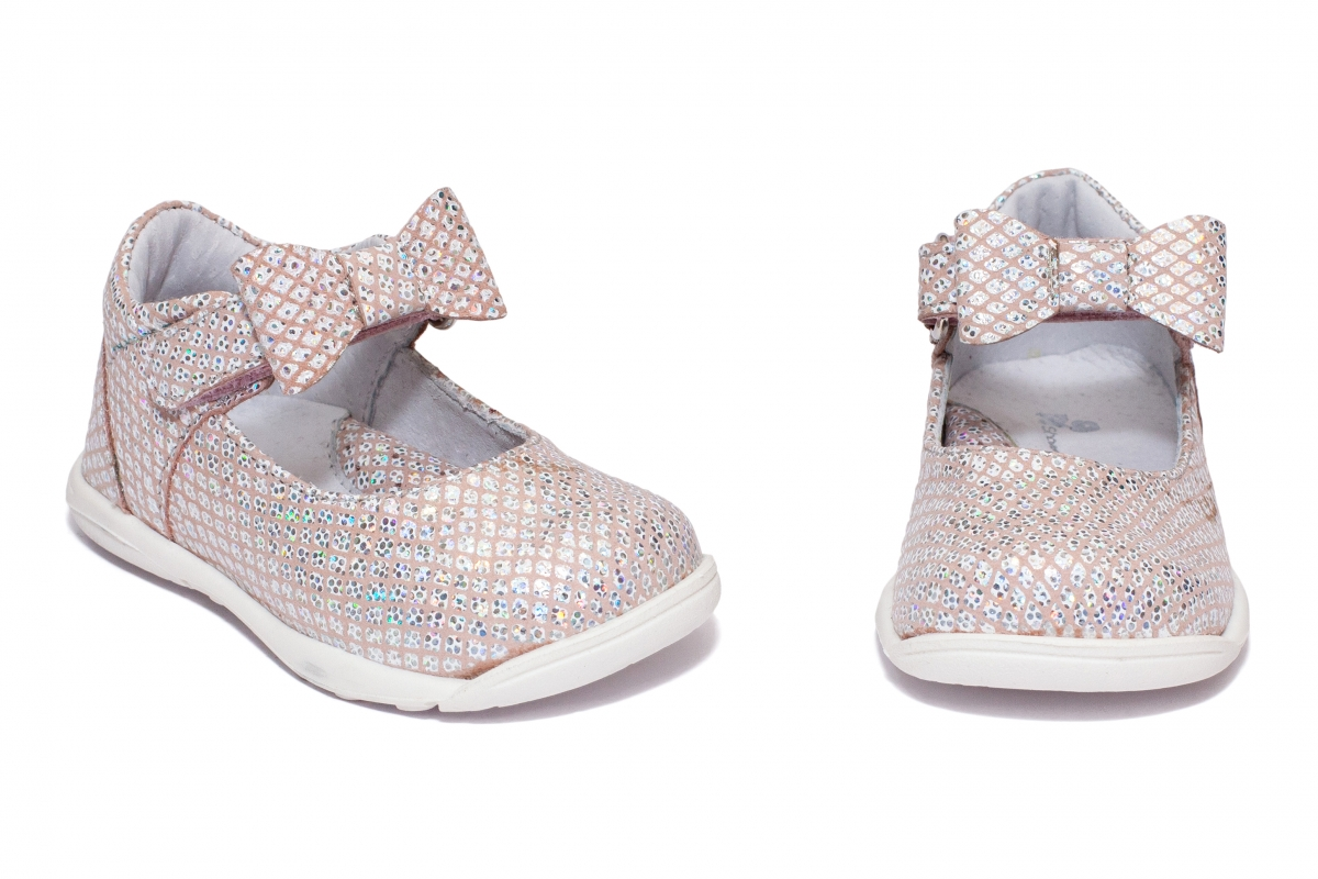 Pantofi balerini fete pj shoes Emma roz print 19-26