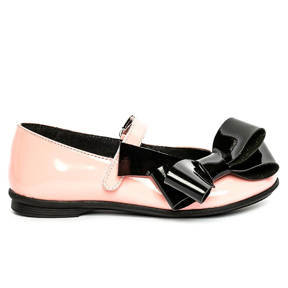 Pantofi balerini fete pj shoes Fantasy piersica negru 27-36