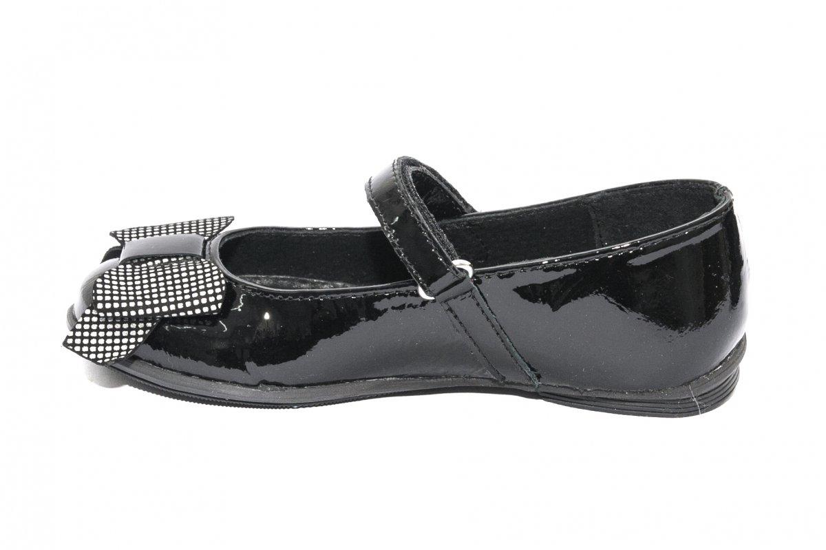 Pantofi balerini fete pj shoes Lia negru pipit 27-36