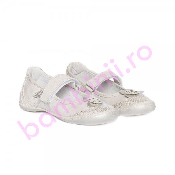Pantofi balerini fete pj shoes Nadia argintiu new 27-36
