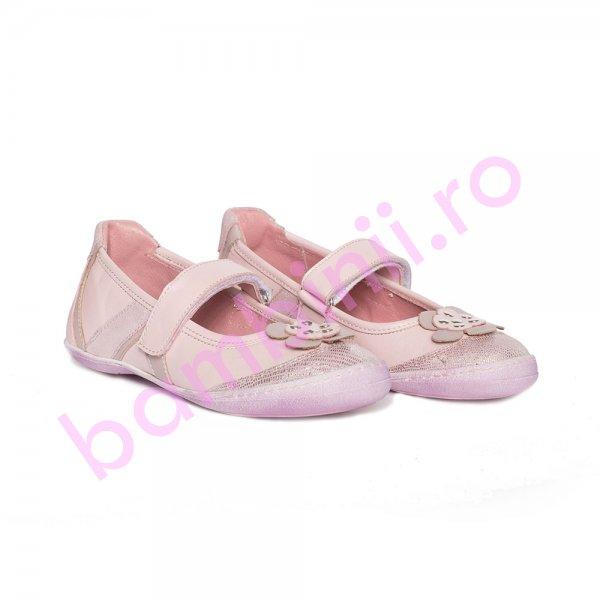 Pantofi balerini fete pj shoes Nadia roz roz 27-36
