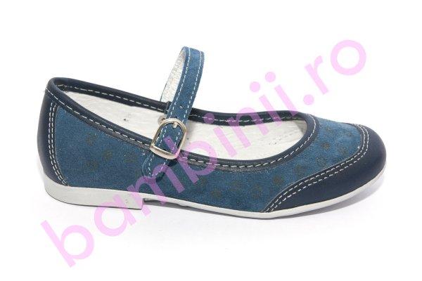 Pantofi balerini fete scoala hokide 383 blu 26-35