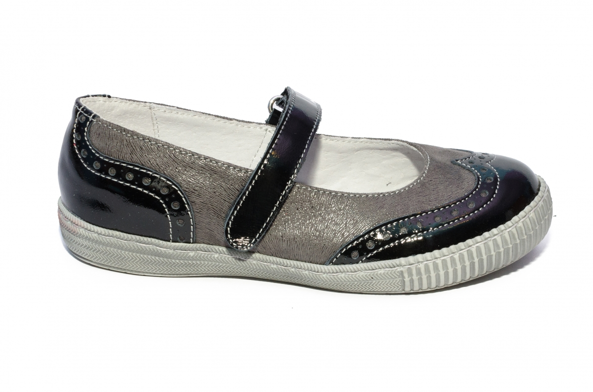 Pantofi balerini fete scoala hokide 419 blu lac 26-35