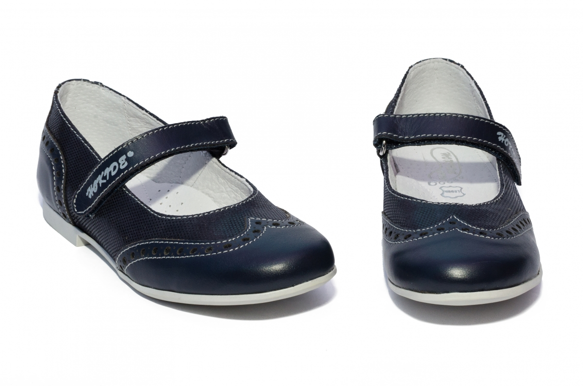 Pantofi balerini fete scoala hokide 419 blu lux 26-35