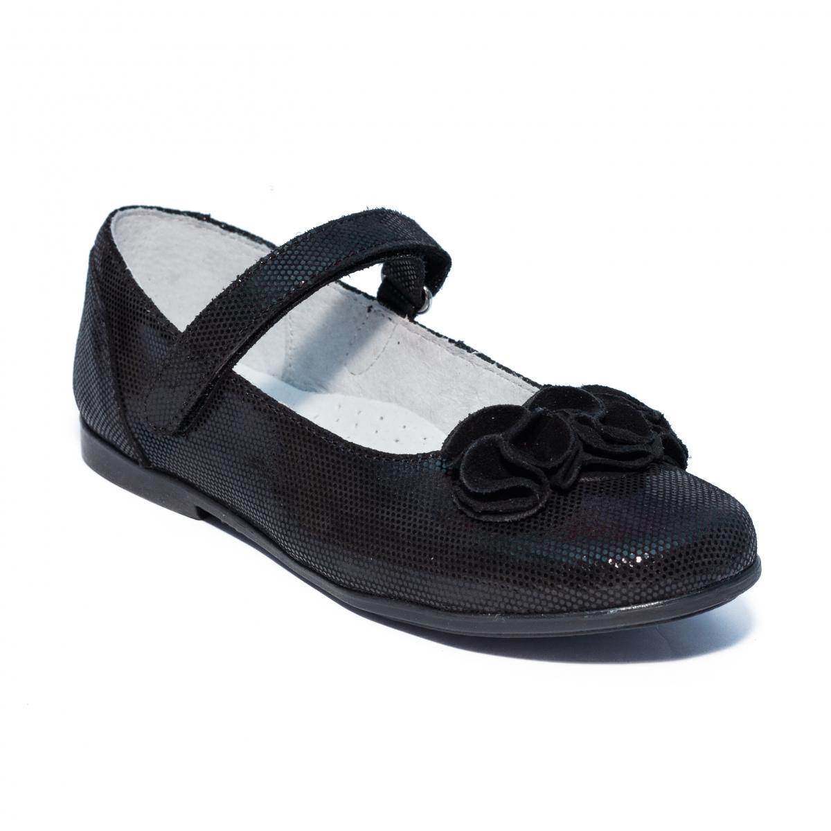 Pantofi balerini hokide 272 negru lux folare 26-35