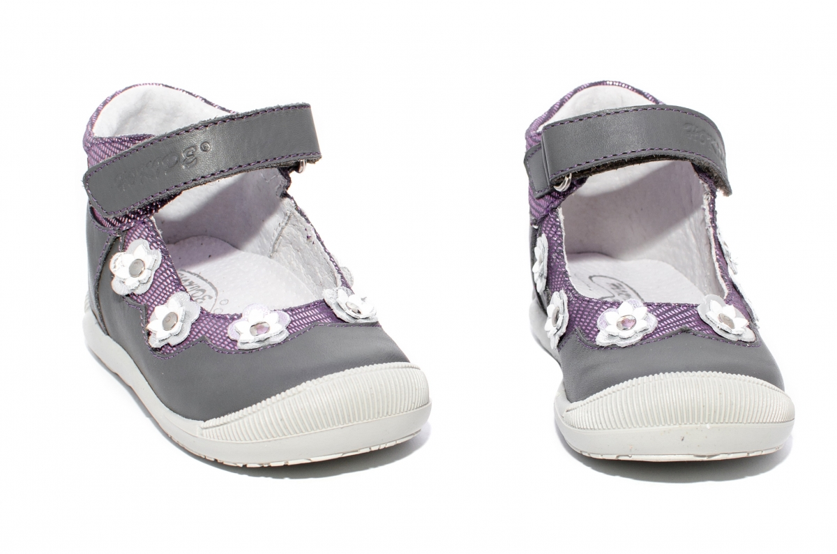 Pantofi balerini inalt pe glezna hokide 401 gri mov 18-24