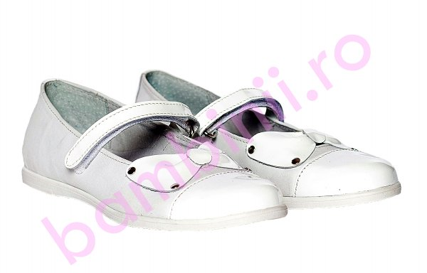 Pantofi balerini pj shoes Cherry alb funda 27-36