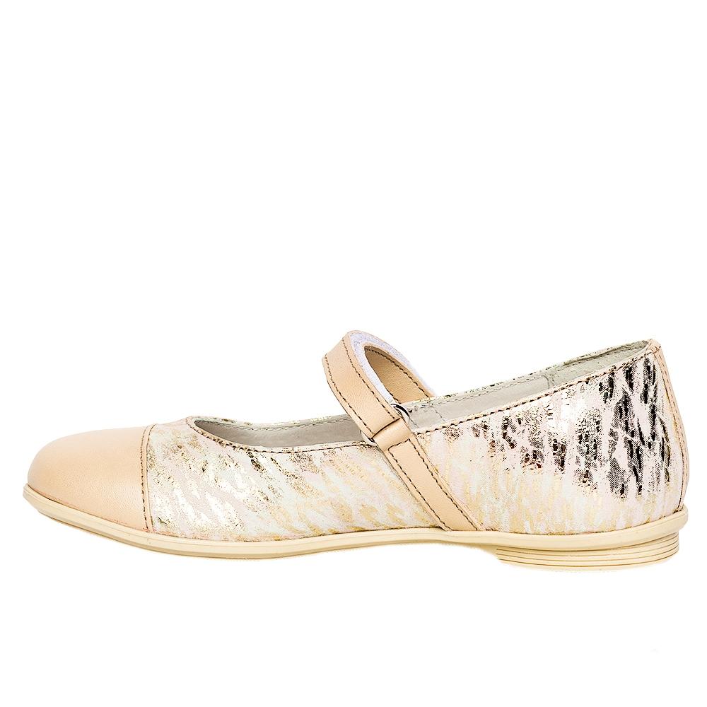 Pantofi balerini pj shoes Cherry bej print 27-36