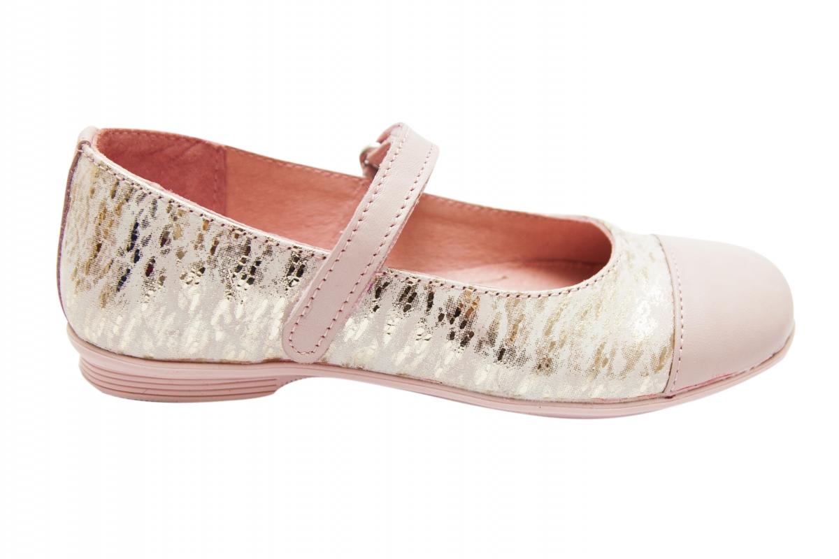 Pantofi balerini pj shoes Cherry roz print 27-36