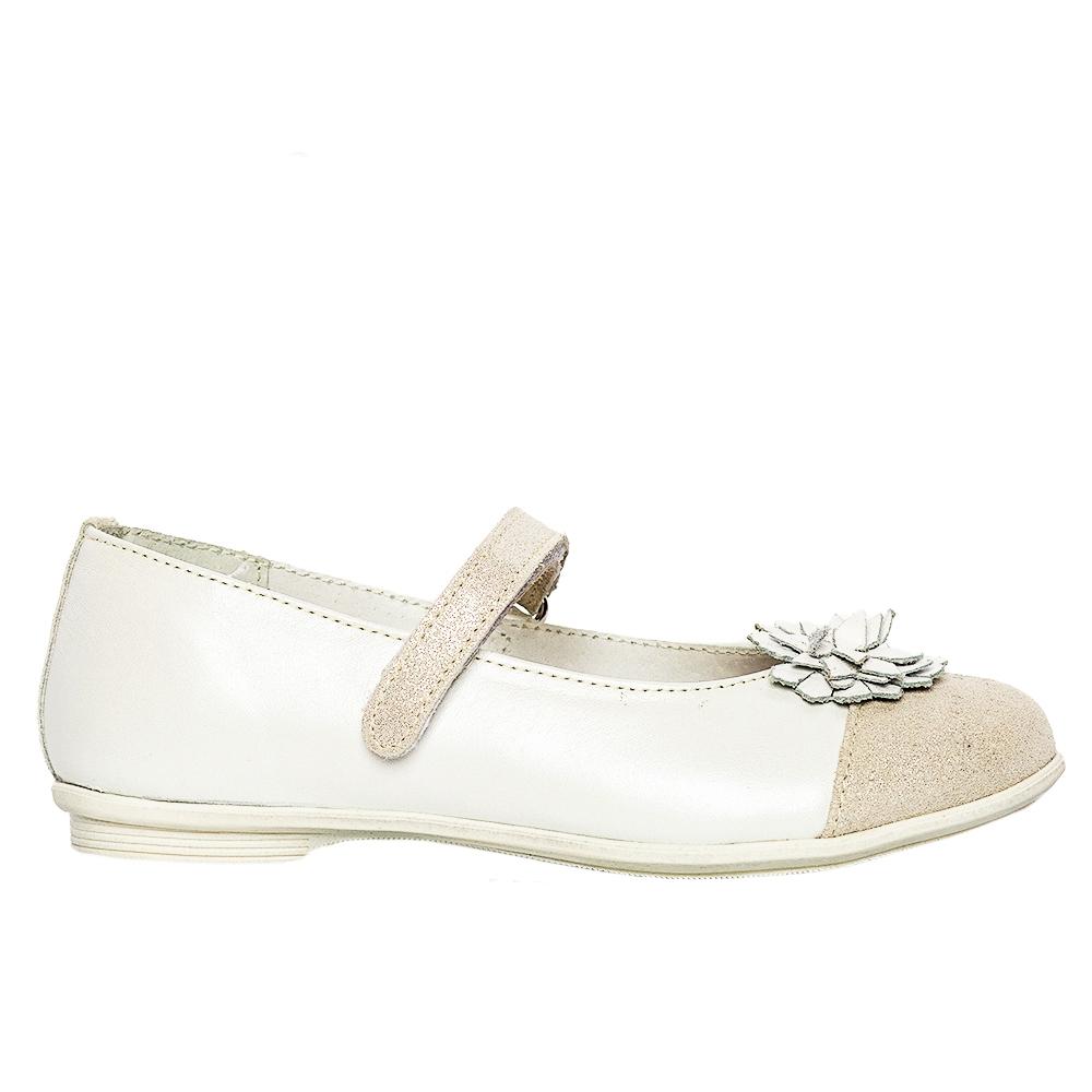 Pantofi balerini pj shoes Clara alb 27-36