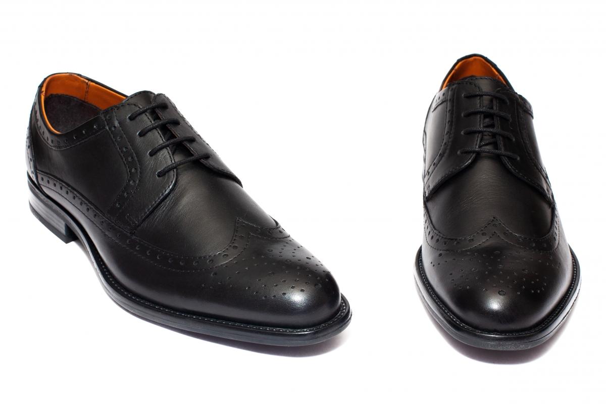 Pantofi barbati piele naturala 279R02 negru 40-46