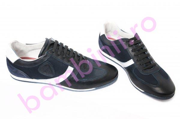 Pantofi barbati 166 albastru alb 39-44
