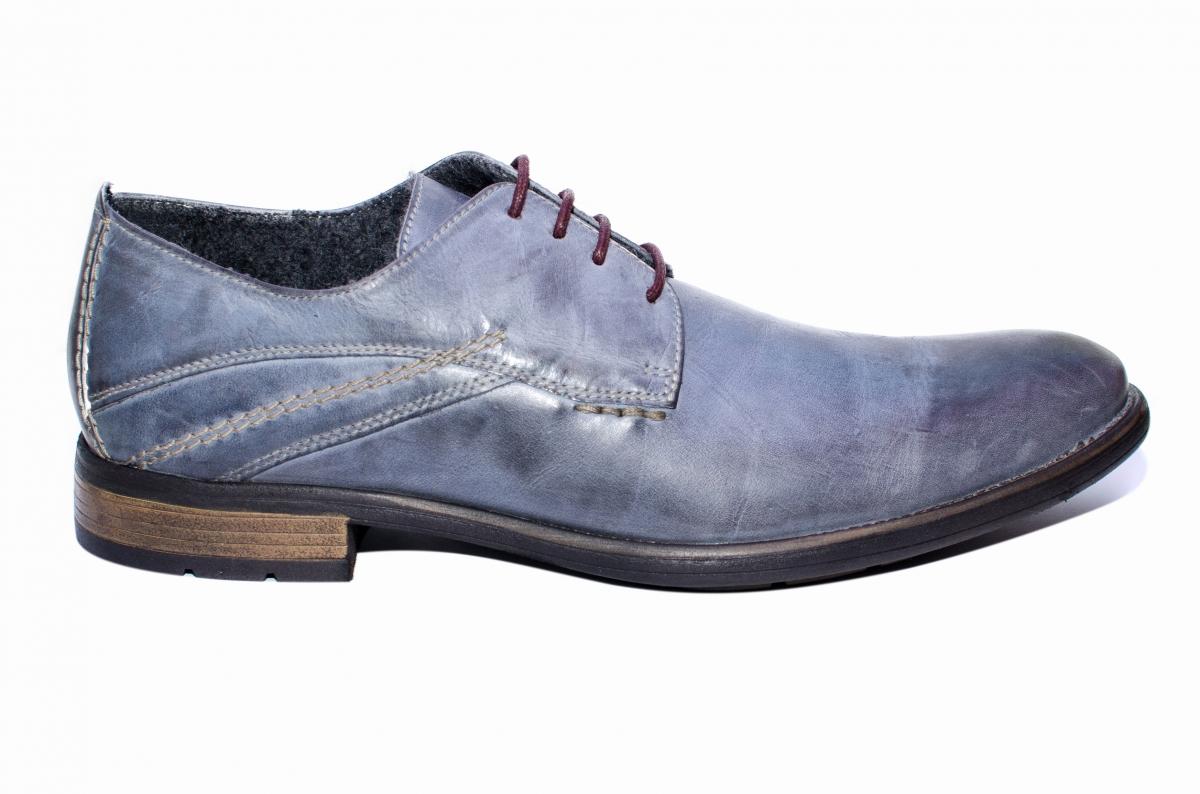 Pantofi barbati BVN piele 2478 gri 40-45