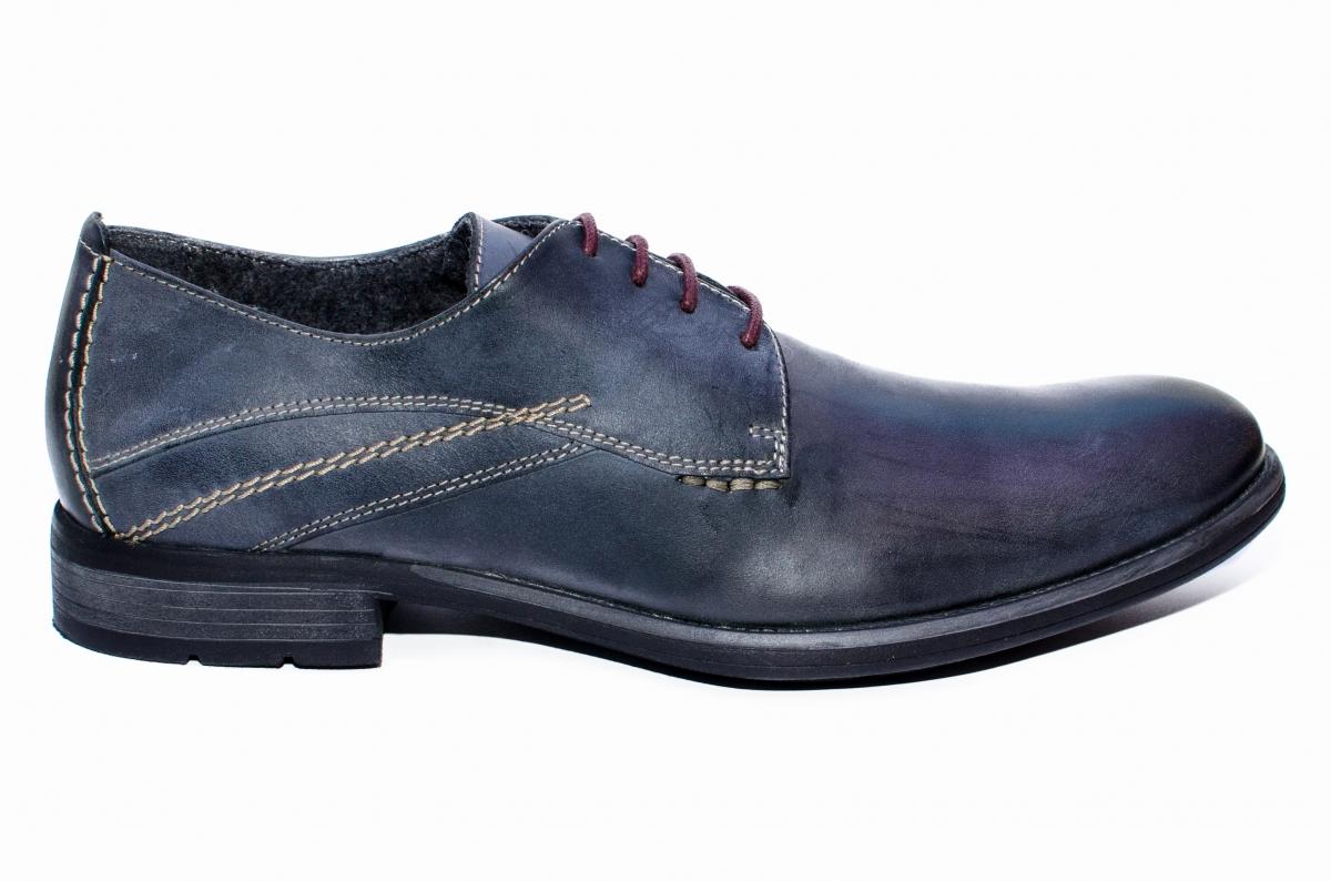 Pantofi barbati BVN piele 2478 negru gri 40-45