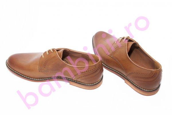 Pantofi barbati piele class man 1057 maro tabacco 40-45