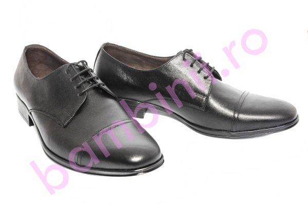 Pantofi barbati piele ocazie Tomy negru 38-45