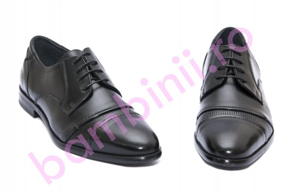 Pantofi barbati din piele naturala Girza 65056 negru 38-46