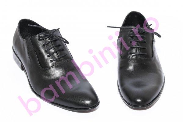 Pantofi barbati eleganti piele BC3 negru box 38-45