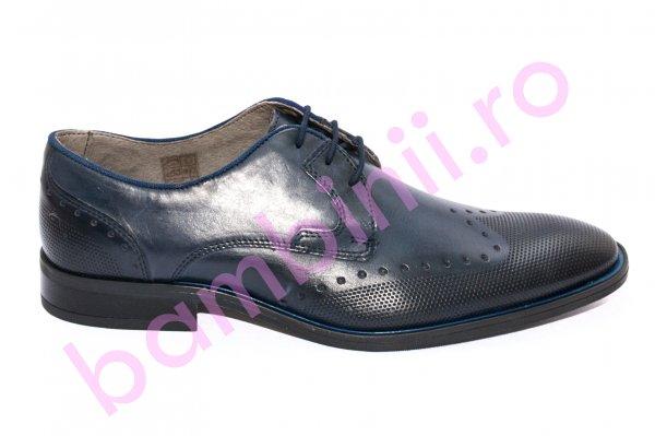 Pantofi barbati eleganti piele naturala 268R02 blumarin 40-46