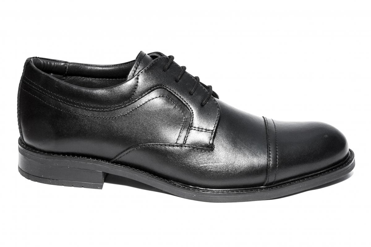 Pantofi barbati piele 045R03 negru 40-46