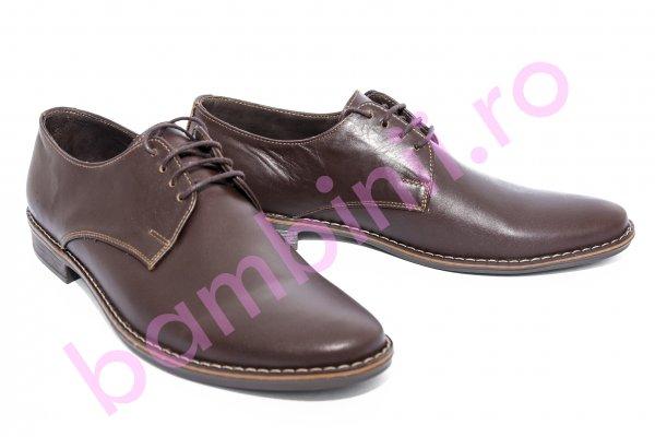 Pantofi barbati piele 9 maro box 36-45