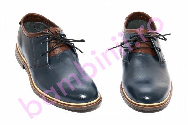 Pantofi barbati piele BC2 blumarin maro 38-45