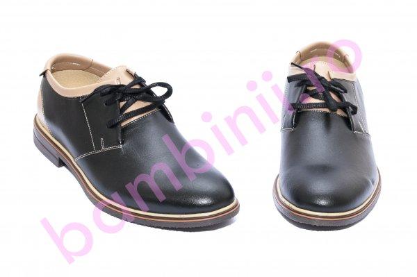 Pantofi barbati piele BC2 negru gri 38-45