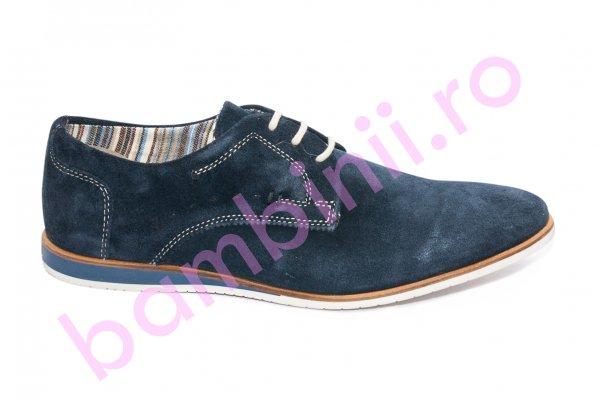Pantofi barbati piele intoarsa 151R14 blumarin 40-46