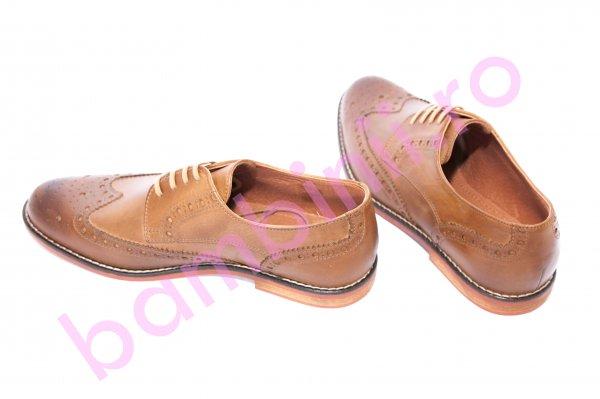 Pantofi barbati piele class man 1058 maro tabacco 40-45