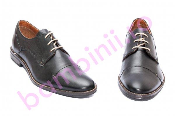 Pantofi barbati piele naturala 209R21 negru 40-46