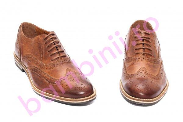 Pantofi barbati piele naturala 22H42 maro 40-46