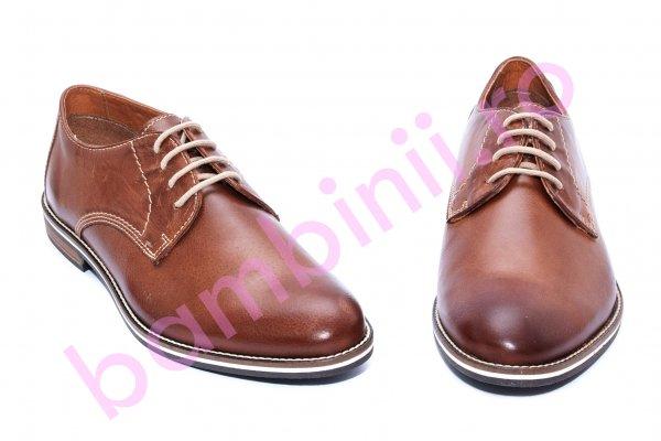 Pantofi barbati piele naturala 22H56 maro 40-46
