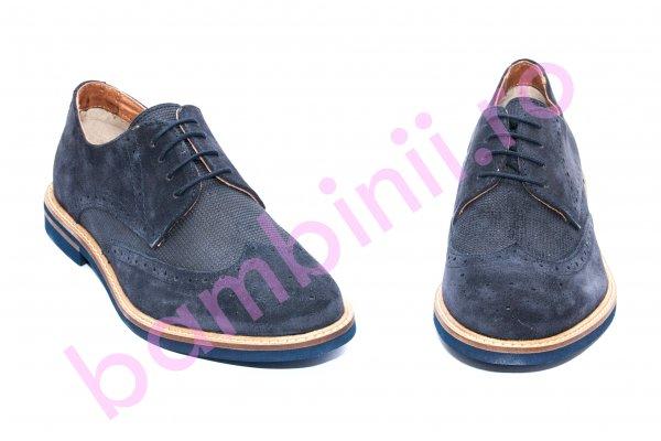 Pantofi barbati piele naturala 249R03 blumarin 40-46