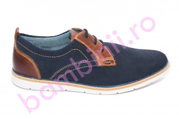 Pantofi barbati piele naturala 257R04 blumarin maro 40-46