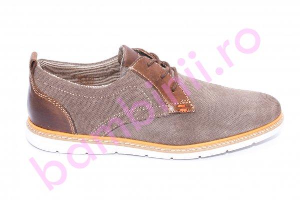Pantofi barbati piele naturala 257R04 maro bej 40-46