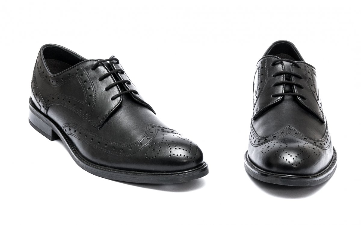 Pantofi barbati piele naturala 45R36 negru 40-46