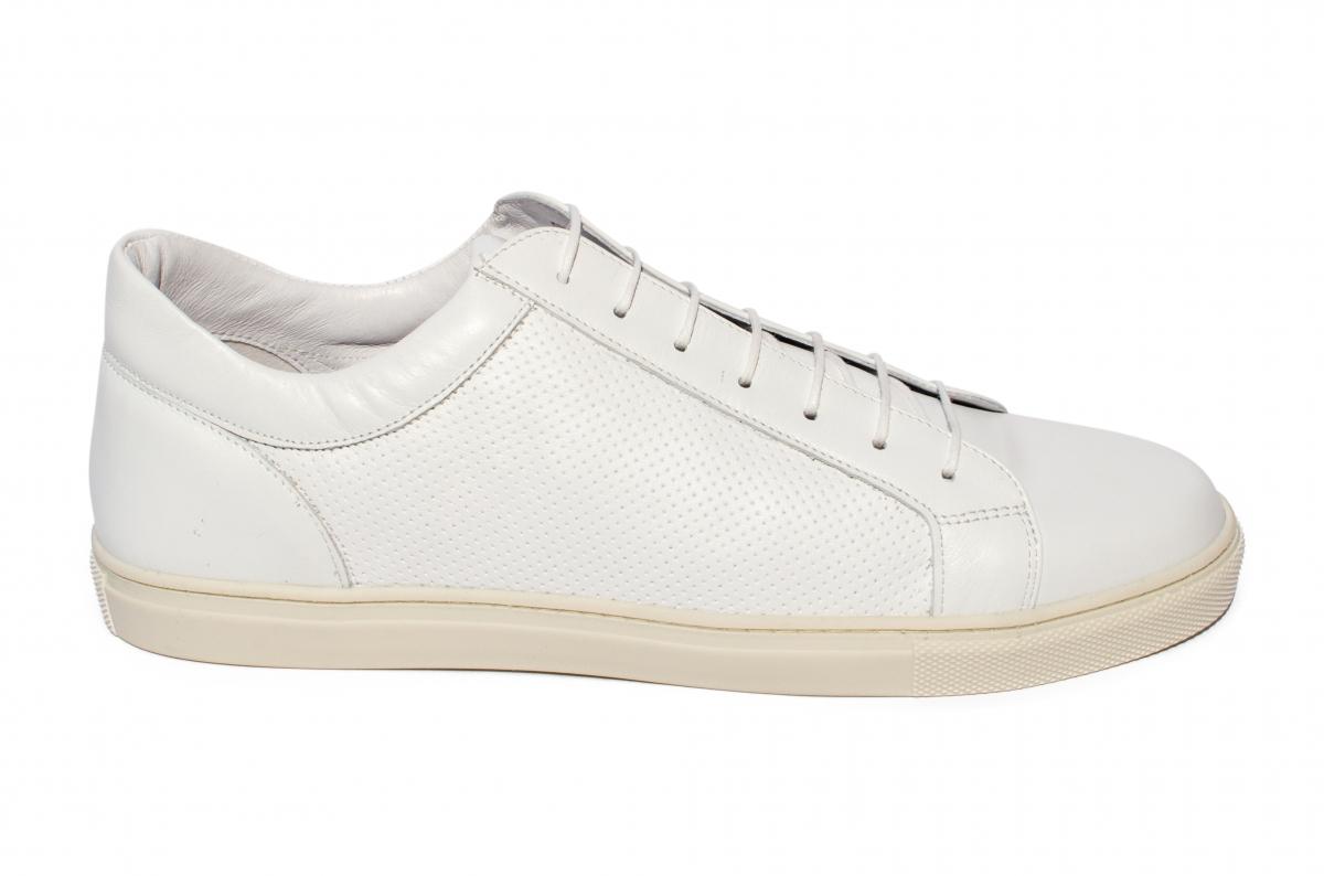 Pantofi barbati piele naturala Marko alb 40-46