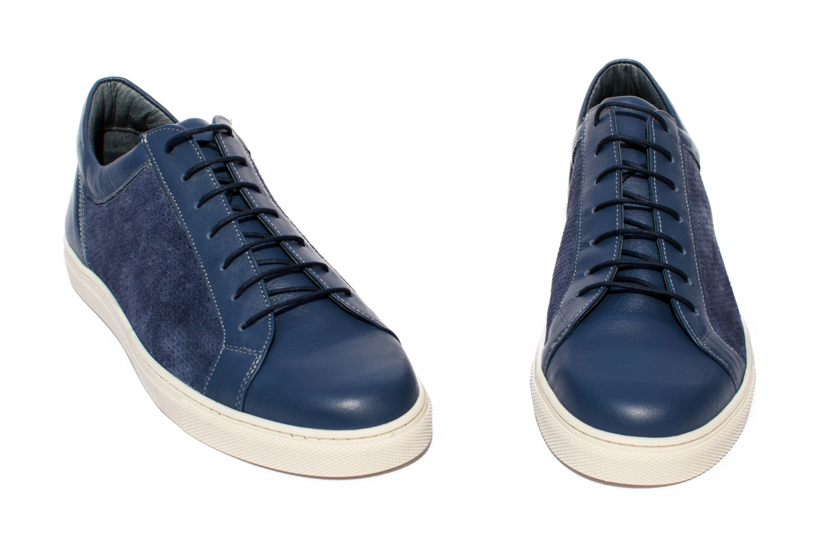Pantofi barbati piele naturala Marko blu 40-46