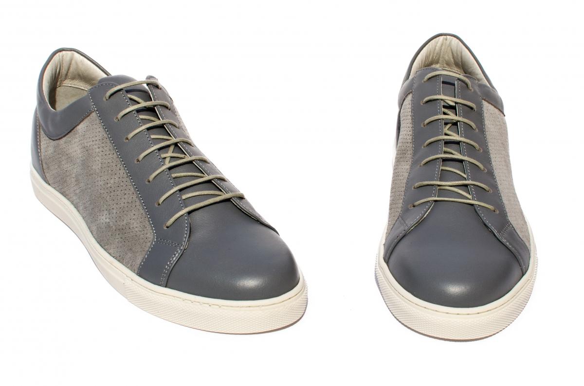 Pantofi barbati piele naturala Marko gri 40-46