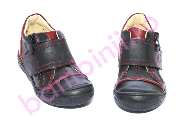 Pantofi copii Goal pj shoes negru rosu new 26-37