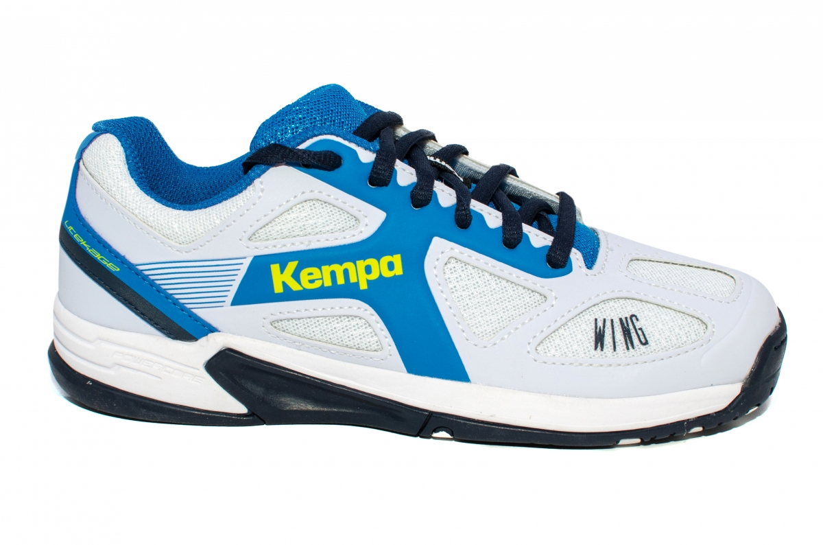 Pantofi copii Kempa Wing 2017 alb albastru 28-39