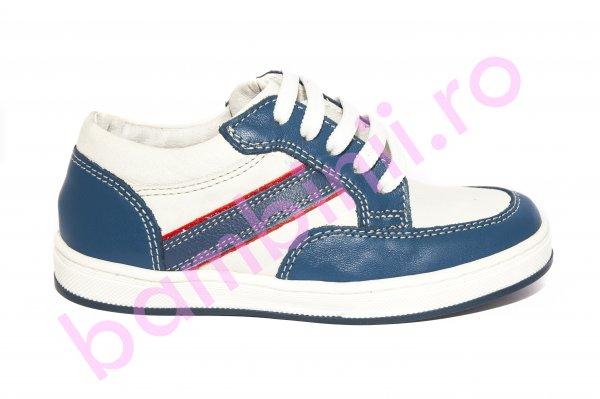 Pantofi copii Zar alb blu 27-36