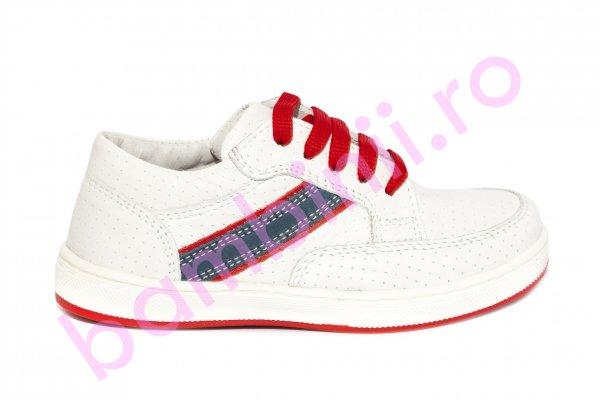 Pantofi copii Zar alb rosu 27-36