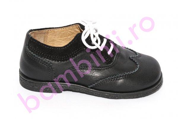 Pantofi copii eleganti avus 555A negru 19-27