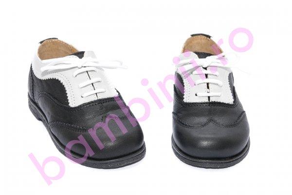 Pantofi copii eleganti avus 555B negru gri 19-27
