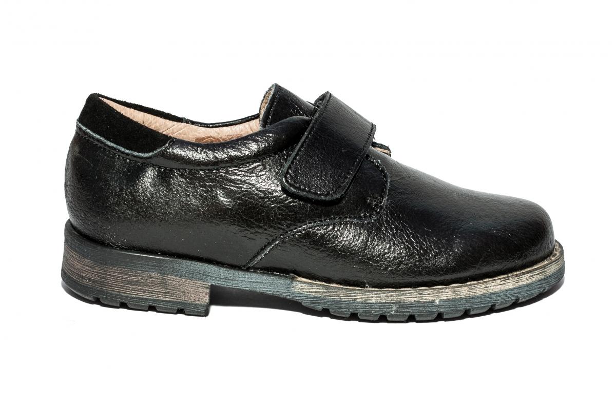 Pantofi copii cu arici piele leofex 103.1 negru arici 26-37