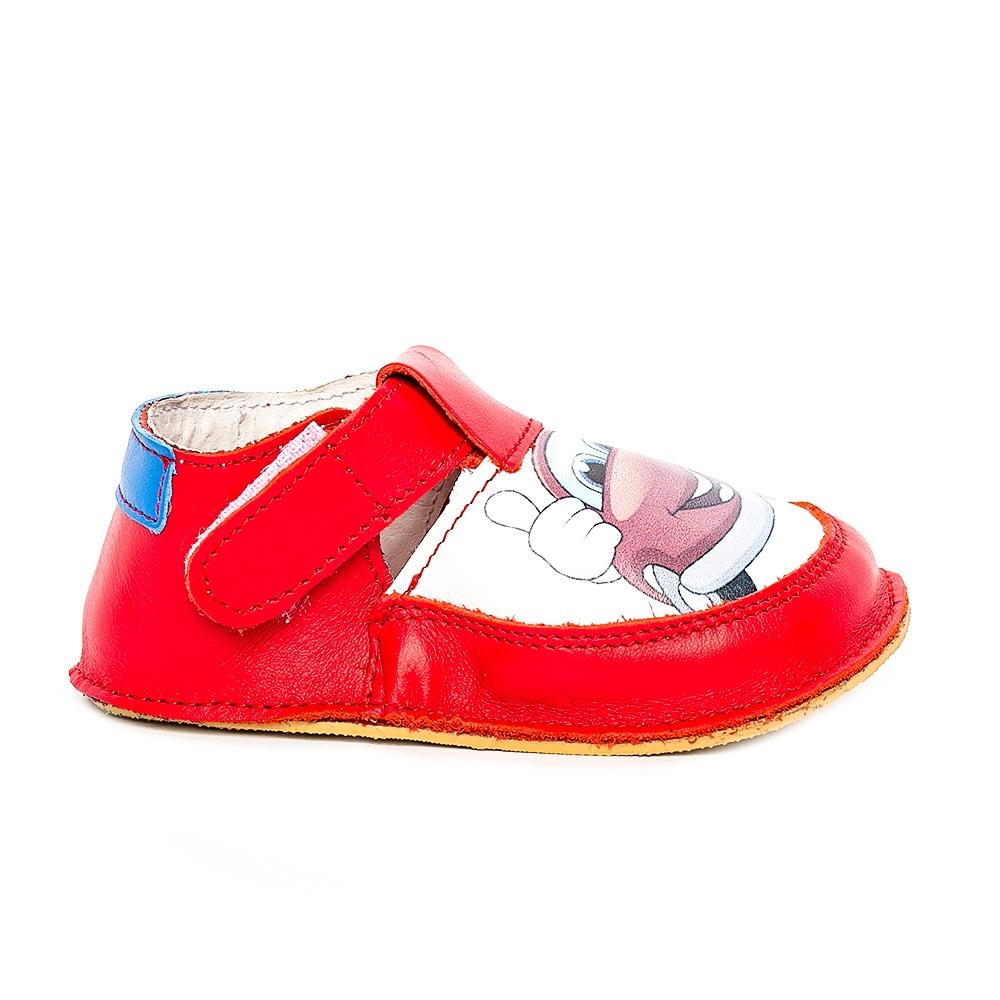 Pantofi copii cu talpa foarte moale Woc 001 rosu cars 18-25