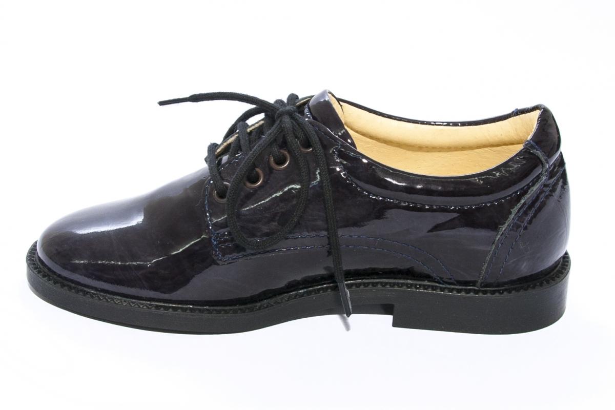 Pantofi copii eleganti leofex 101 blumarin lac 28-37