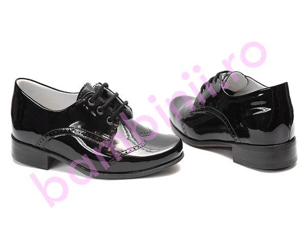 Pantofi copii hokide 207 negru lac 2