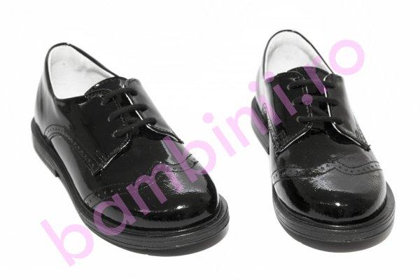 Pantofi copii hokide 207 negru lac new 21-37
